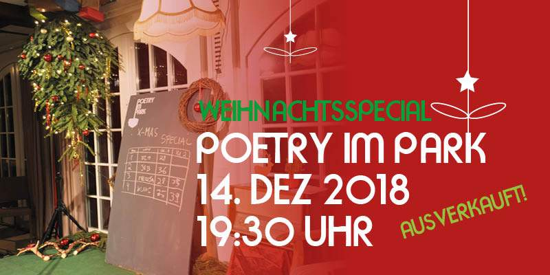 Poetry im Park - Weihnachtsedition 2018